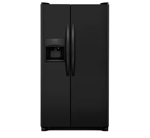 Frigidaire 25.5 Cu. Ft. Side-by-Side Refrigerator  EBONY BLACK