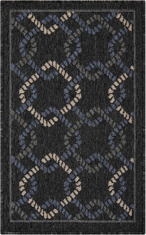 Caribbean Crb16 Charcoal Rectangle Rug 1'9'' X 2'9''