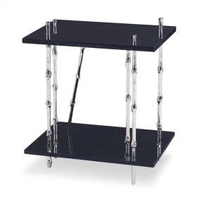 Bamboo End Table - Granite Top