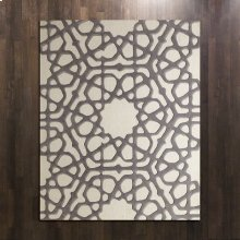Rose Window Rug-Grey-8 x 10