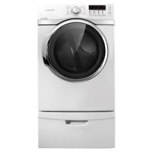 7.4 cu. ft. Super Capacity Gas Front-Load Dryer (White)