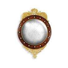 Regency Walnut & Gilt Round Convex églomisé Mirror (Medium)