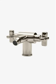 .25 One Hole Bidet Fitting with Cross Handles STYLE: PTBF01