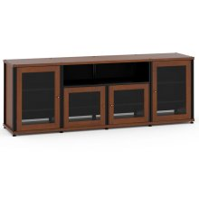Synergy Solution 345, Quad-Width AV Cabinet, Cherry with Black Posts