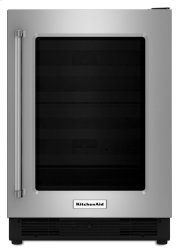 """24"""" Undercounter Refrigerator with Glass Door - Stainless Steel Product Image"""