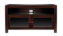 No Tools Assembly Deep Mahogany Finish Wood A/V Cabinet This No Tools Assem...
