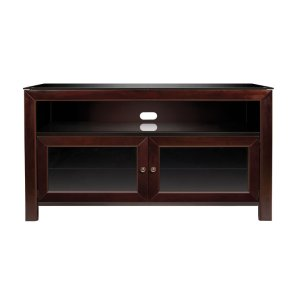 Bell'oNo Tools Assembly Deep Mahogany Finish Wood A/V Cabinet This No Tools Assem...