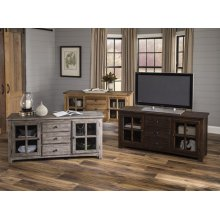 """60"""" Weathered Gray Reclaimed Console"""