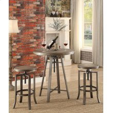 Industrial Adjustable Height Round Bar Table