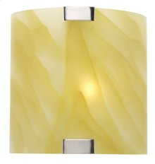Wall Lamp, Ps W/light Amber Glass Shade, 40w/b Type