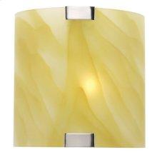 Wall Lamp, Ps W/light Amber Glass Shade, 40w/b Type