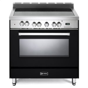 "VeronaMatte Black 36"" Electric Single Oven Range"