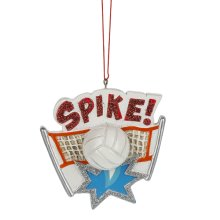 """""""Spike!"""" Volleyball Ornament."""