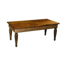 Coffee Table, Available in Antique Palm Finish Only.