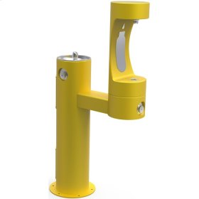 Elkay Outdoor EZH2O Bottle Filling Station Bi-Level Pedestal, Non-Filtered Non-Refrigerated Yellow