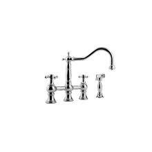 Canterbury Bridge Kitchen Faucet w/ Side Spray