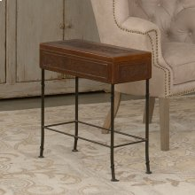 Botanical Leather Box On Stand
