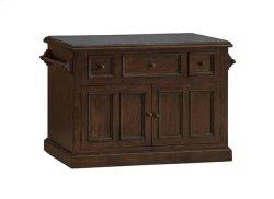 Tuscan Retreat® 3 Drawer 4 Door Large Granite Top Kitchen Island - Rustic Mahogany Product Image