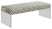"Lavo Black and White Bench - 48.5""L x 18""D x 18""H"