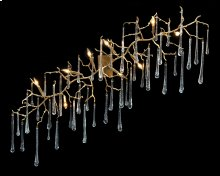 Teardrops of Glass Illuminated Nine-Light Wall Sculpture