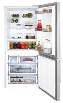 "30"" Bottom Freezer/Fridge 18 cuft, wrapped stainless doors, stainless handles, right hinge"