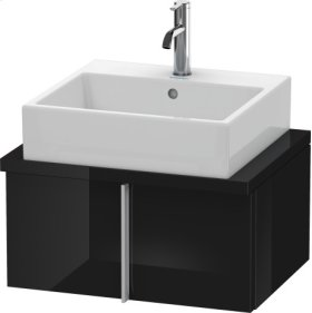 Vero Vanity Unit For Console Compact, Black High Gloss Lacquer