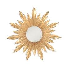 Small Gilded Sunburst Mirror