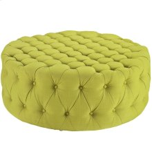 Amour Upholstered Fabric Ottoman in Wheatgrass