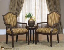 2 Bergere Chairs with Small Round Table