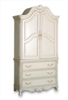 Armoire, Vintage White, Top Only