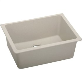 "Elkay Quartz Classic 24-5/8"" x 18-1/2"" x 9-1/2"", Single Bowl Undermount Sink, Putty"