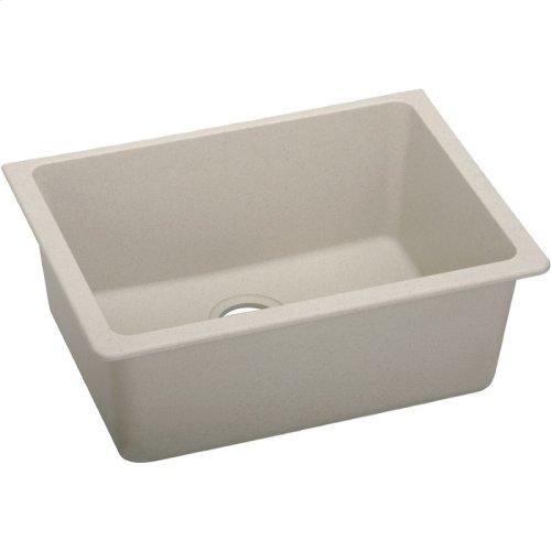 "Elkay Quartz Classic 24-5/8"" x 18-1/2"" x 9-1/2"", Single Bowl Undermount Sink, Putty"