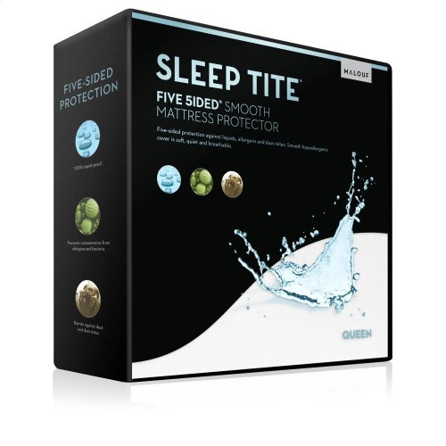 Five 5ided Smooth Mattress Protector - Full