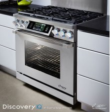 """Discovery iQ 36"""" Dual-Fuel Range, in Stainless Steel, with Liquid Propane - High Altitude (Liquid Propane)"""