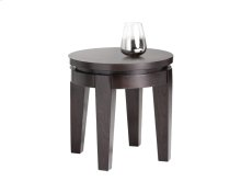 Asia Round End Table - Espresso