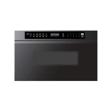 "Modernist 24"" Microwave-In-A-Drawer, Silver Stainless Steel"