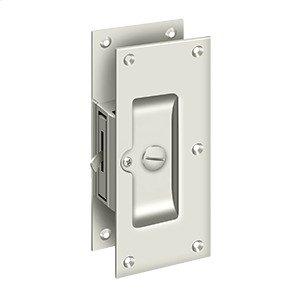 "Decorative Pocket Lock 6"", Privacy - Polished Nickel"