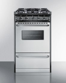 "20"" Wide Slide-in Gas Range With Stainless Steel Doors and Sealed Burners; Replaces Tnm11027bfrwy"