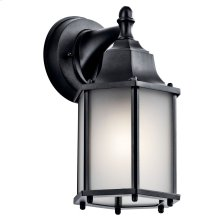 "Chesapeake 10.25"" 1 Light Satin Glass Wall Light Black"