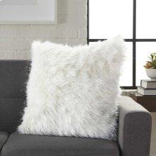 """Fur Vv059 White 1'5"""" X 1'5"""" Throw Pillows"""