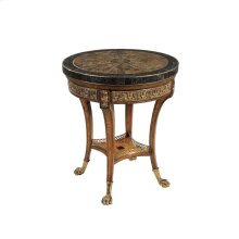 OCCASIONAL TABLE WITH GOLD AGATE TOP