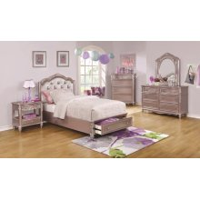 Caroline Metallic Lilac Twin Five-piece Set