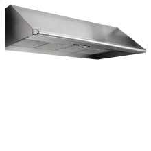 """Floor Model - Renaissance 48"""" wide, 18"""" high, and 26 7/8"""" deep Epicure wall-mounted hood."""