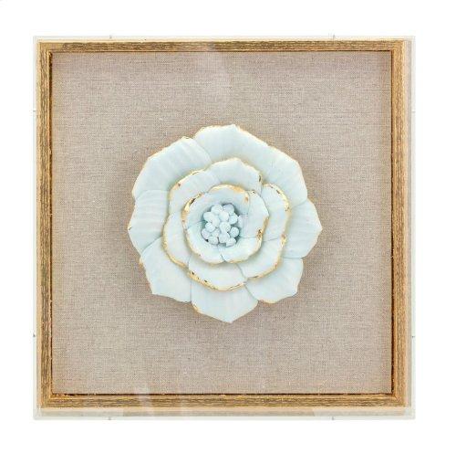 Nadia Porcelain Flower and Acrylic Wall Decor - Ast 4