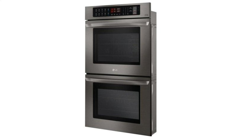 Hidden Additional Lg Black Stainless Steel Series 9 4 Cu Ft Total Capacity Double Wall Oven