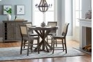 Round Counter Table - Distressed Dark Gray Finish Product Image