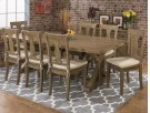 Slater Mill Reclaimed Pine Trestle Dining Table Product Image