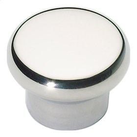 Round Knob 1 1/4 Inch - Stainless Steel
