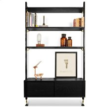 Theo Wall Unit With Drawer  Black