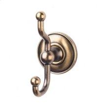 Edwardian Bath Double Hook Plain Backplate - German Bronze